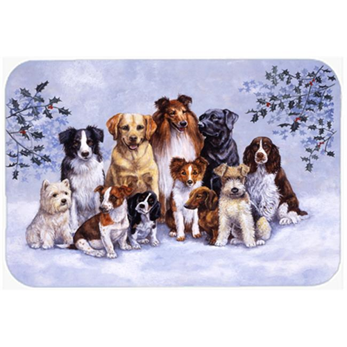 Carolines Treasures BDBA316AMP Winter Dogs Mouse Pad Hot Pad or Trivet