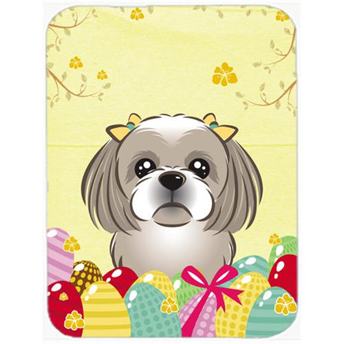 Carolines Treasures BB1932MP Gray Silver Shih Tzu Easter Egg Hunt Mouse Pad Hot Pad or Trivet