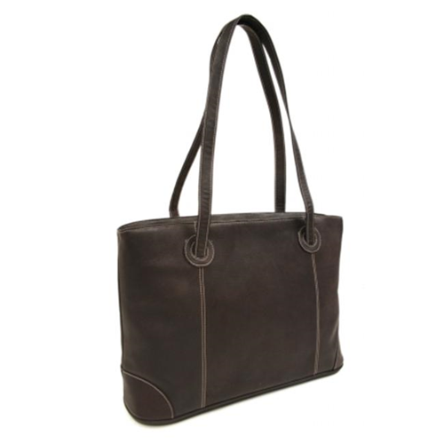 Piel 2719-CHC Chocolate Ladies Computer Tote