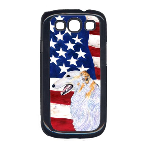Carolines Treasures SS4231GALAXYS3 USA American Flag with Borzoi Cell Phone Cover GALAXY S111