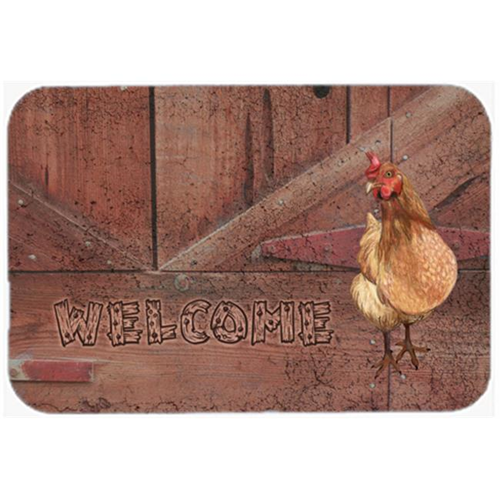 Carolines Treasures SB3075MP 7.75 x 9.25 In. Welcome Chicken Mouse Pad Hot Pad Or Trivet