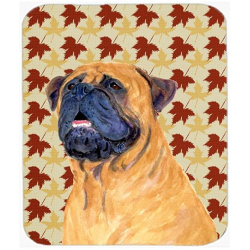 Carolines Treasures SS4336MP Mastiff Fall Leaves Portrait Mouse Pad Hot Pad Or Trivet