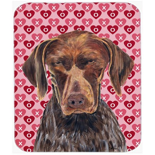 Carolines Treasures SC9244MP German Shorthaired Pointer Valentines Day Mouse Pad Hot Pad Or Trivet