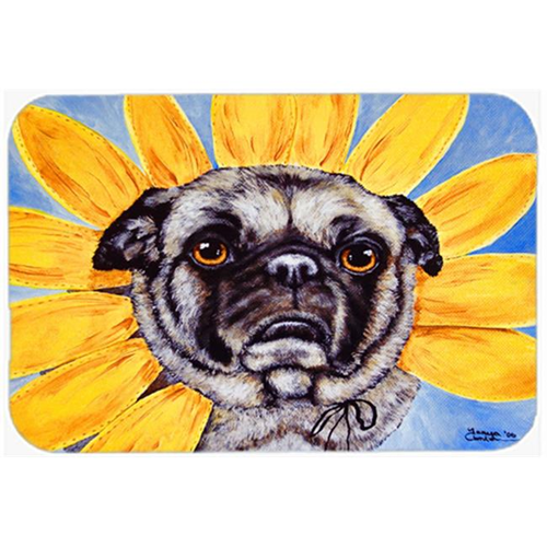 Carolines Treasures AMB1058MP Sunflower Pug Mouse Pad Hot Pad or Trivet