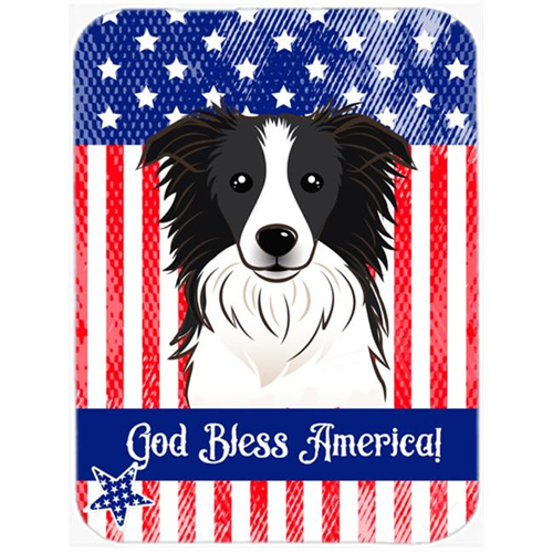 Carolines Treasures BB2171MP God Bless American Flag with Border Collie Mouse Pad Hot Pad or Trivet