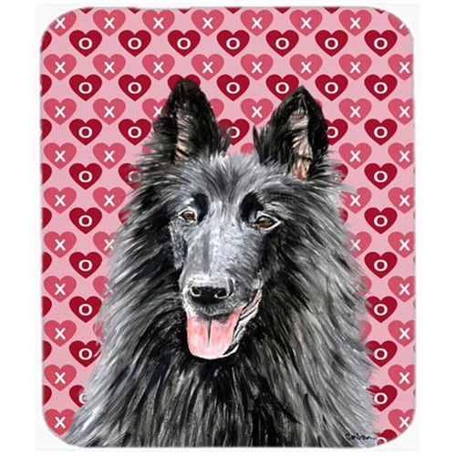 Carolines Treasures SC9241MP Belgian Sheepdog Hearts Love And Valentines Day Mouse Pad Hot Pad Or Trivet
