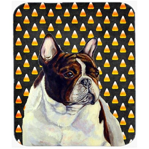 Carolines Treasures LH9078MP French Bulldog Candy Corn Halloween Portrait Mouse Pad Hot Pad or Trivet
