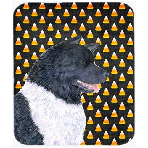Carolines Treasures SS4314MP Akita Candy Corn Halloween Portrait Mouse Pad Hot Pad or Trivet