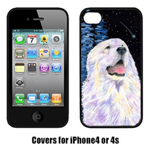 Carolines Treasures SS8466IP4 Starry Night Great Pyrenees Cell Phone Cover Iphone 4
