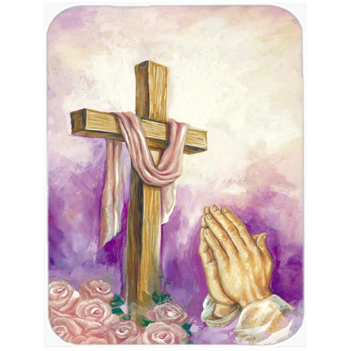 Carolines Treasures APH2810MP Easter Cross with Praying Hands Mouse Pad Hot Pad or Trivet