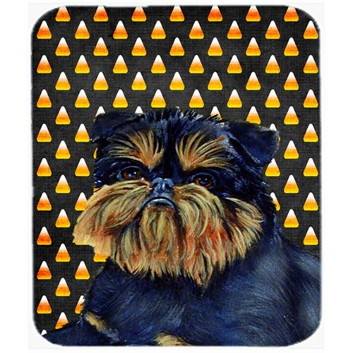 Carolines Treasures LH9049MP Brussels Griffon Candy Corn Halloween Portrait Mouse Pad Hot Pad Or Trivet