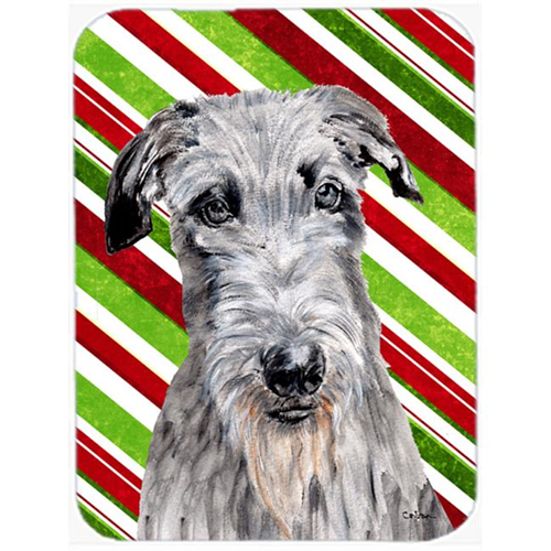 Carolines Treasures SC9802MP Scottish Deerhound Candy Cane Christmas Mouse Pad Hot Pad Or Trivet 7.75 x 9.25 In.