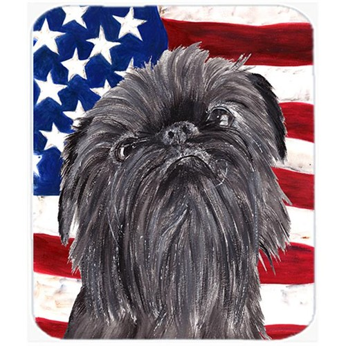Carolines Treasures SC9517MP 7.75 x 9.25 In. Brussels Griffon USA American Flag Mouse Pad Hot Pad or Trivet