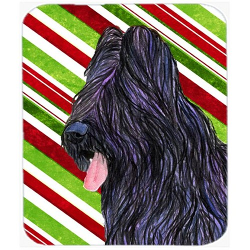 Carolines Treasures SS4558MP Briard Candy Cane Holiday Christmas Mouse Pad Hot Pad Or Trivet