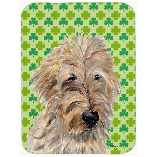 Carolines Treasures SC9739MP Golden Doodle 2 Lucky Shamrock St. Patricks Day Mouse Pad Hot Pad Or Trivet 7.75 x 9.25 In.