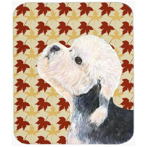 Carolines Treasures SS4353MP Dandie Dinmont Terrier Fall Leaves Portrait Mouse Pad Hot Pad Or Trivet