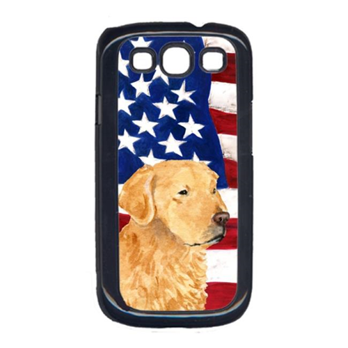 Carolines Treasures SS4055GALAXYS3 USA American Flag with Golden Retriever Cell Phone Cover GALAXY S111