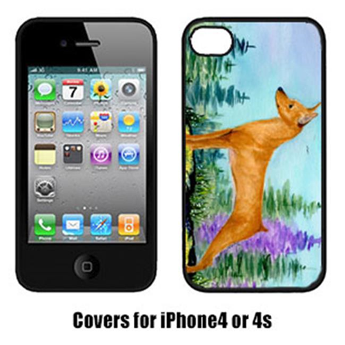 Carolines Treasures SS8660IP4 Min Pin Cell Phone Cover Iphone4