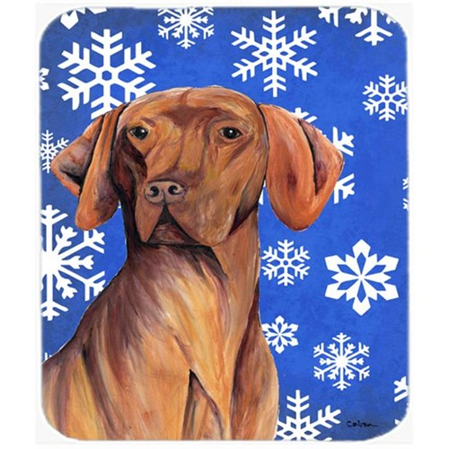 Carolines Treasures SC9378MP Vizsla Winter Snowflakes Holiday Mouse Pad Hot Pad or Trivet