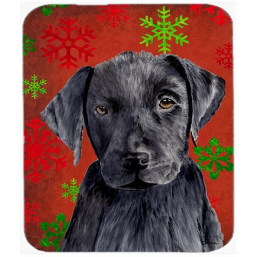 Carolines Treasures SC9404MP Labrador Red And Green Snowflakes Holiday Christmas Mouse Pad Hot Pad Trivet