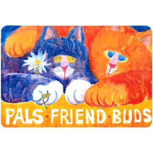 Carolines Treasures 6029MP Cats Pals Friends Buds Mouse Pad Hot Pad Or Trivet