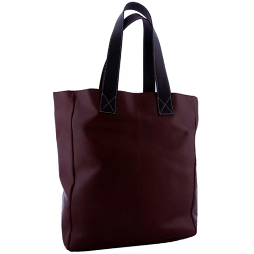 Leatherbay 20101 Shopping Leather Tote Dark Brown
