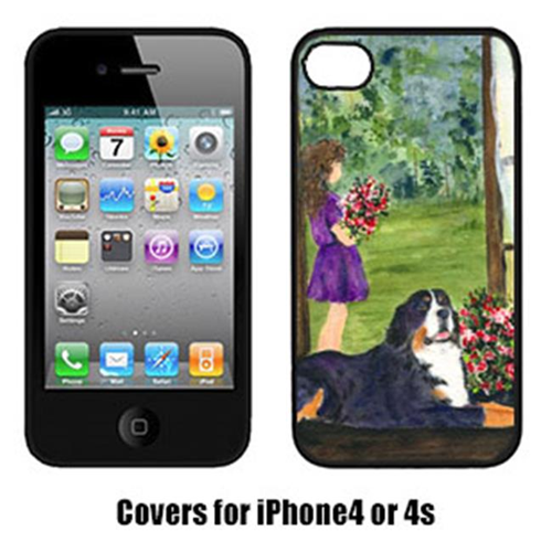 Carolines Treasures SS8535IP4 Little Girl with her Bernese Mountain Dog Cell Phone cover IPhone 4