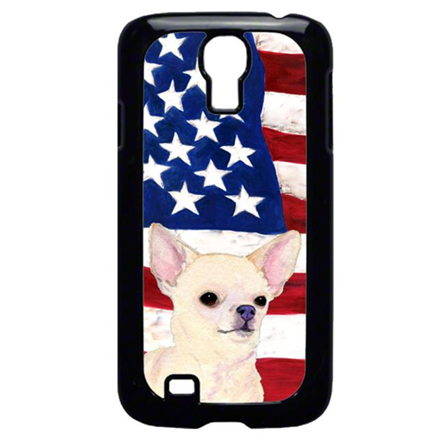 Carolines Treasures SS4228GALAXYS4 USA American Flag With Chihuahua Galaxy S4 Cell Phone Cover