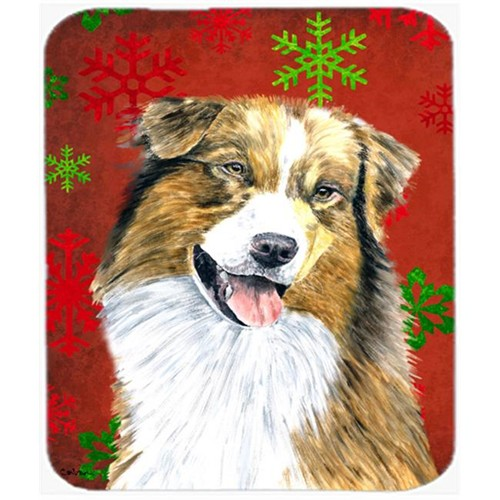 Carolines Treasures SC9437MP Australian Shepherd Snowflakes Holiday Christmas Mouse Pad Hot Pad Or Trivet
