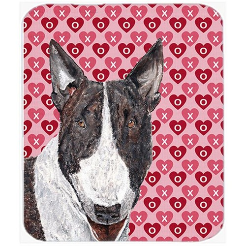 Carolines Treasures SC9561MP 7.75 x 9.25 In. Bull Terrier Valentines Love Mouse Pad Hot Pad or Trivet