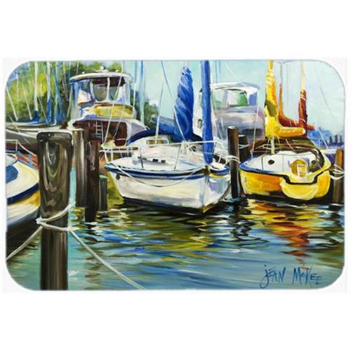 Carolines Treasures JMK1085MP Yellow Boat Ii Sailboat Mouse Pad Hot Pad & Trivet