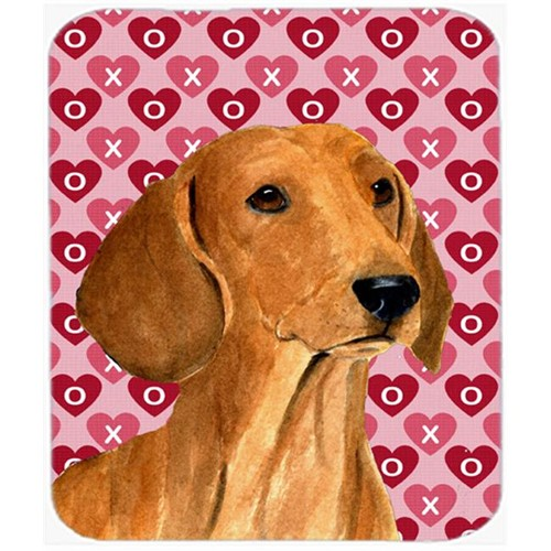 Carolines Treasures SS4487MP Dachshund Hearts Love And Valentines Day Portrait Mouse Pad Hot Pad Or Trivet
