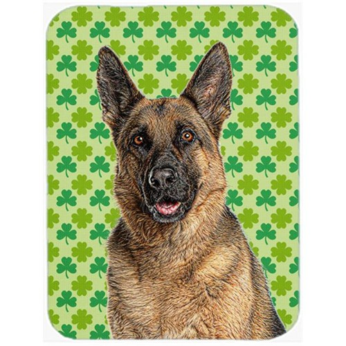 Carolines Treasures KJ1201MP St. Patricks Day Shamrock German Shepherd Mouse Pad Hot Pad or Trivet