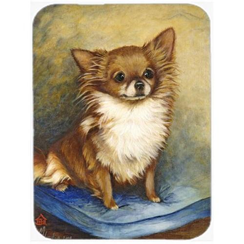 Carolines Treasures MH1036MP Chihuahua Long Hair Brown Mouse Pad Hot Pad & Trivet