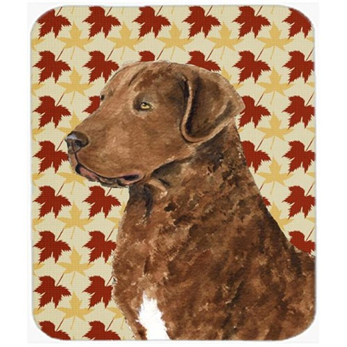 Carolines Treasures SS4325MP Chesapeake Bay Retriever Fall Leaves Portrait Mouse Pad Hot Pad Or Trivet