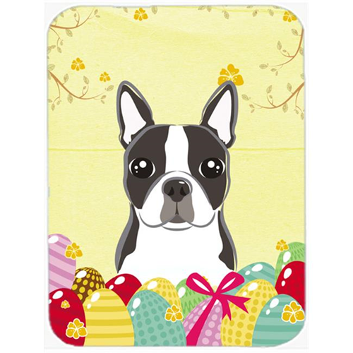 Carolines Treasures BB1885MP Boston Terrier Easter Egg Hunt Mouse Pad Hot Pad or Trivet