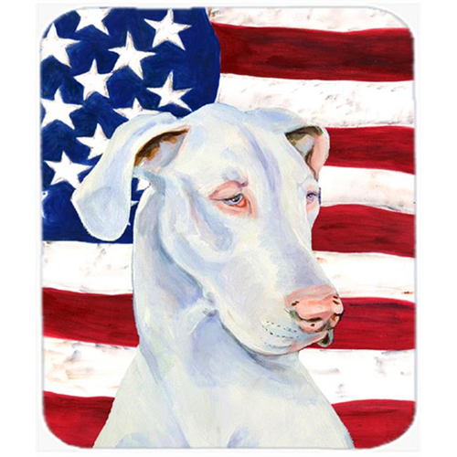 Carolines Treasures LH9026MP Usa American Flag With Great Dane Mouse Pad Hot Pad Or Trivet