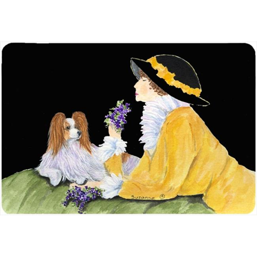 Carolines Treasures SS8633MP Papillon Mouse pad hot pad or trivet