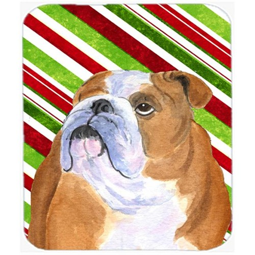 Carolines Treasures SS4560MP Bulldog English Candy Cane Holiday Christmas Mouse Pad Hot Pad or Trivet