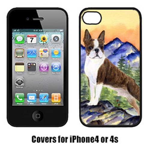 Carolines Treasures SS8162IP4 Boston Terrier Cell Phone cover IPhone 4