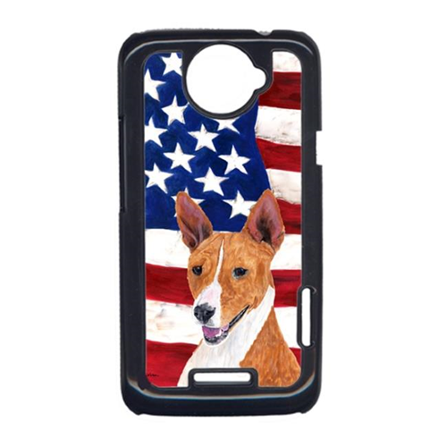 Carolines Treasures SC9033HTCONE USA American Flag With Basenji HTC One X Cell Phone Cover