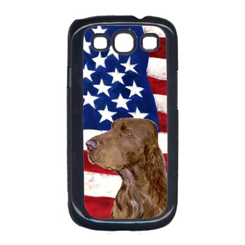 Carolines Treasures SS4010GALAXYS3 USA American Flag with Field Spaniel Cell Phone Cover GALAXY S111