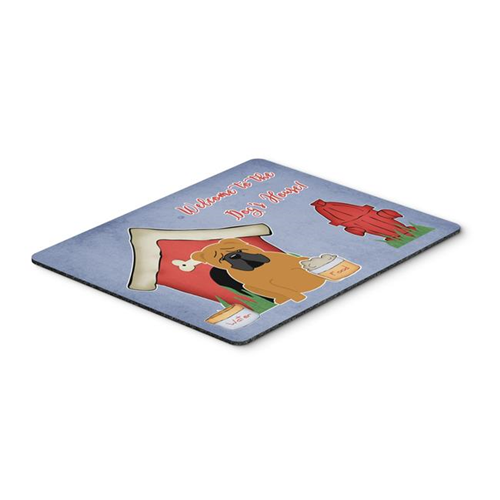Carolines Treasures BB2876MP Dog House Collection English Bulldog Red Mouse Pad Hot Pad or Trivet