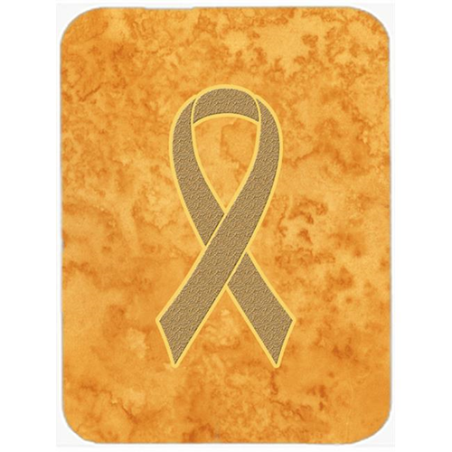 Carolines Treasures AN1219MP Peach Ribbon For Uterine Cancer Awareness Mouse Pad Hot Pad Or Trivet 7.75 x 9.25 In.