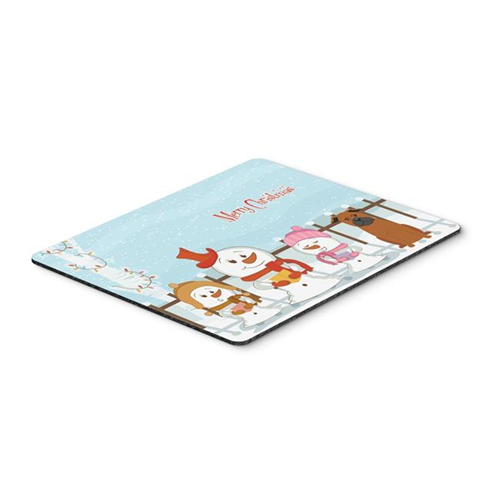 Carolines Treasures BB2442MP Merry Christmas Carolers Chinese Chongqing Dog Mouse Pad Hot Pad or Trivet