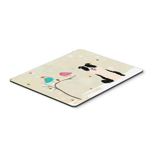 Carolines Treasures BB2590MP Christmas Presents Between Friends Border Collie Black & White Mouse Pad Hot Pad or Trivet