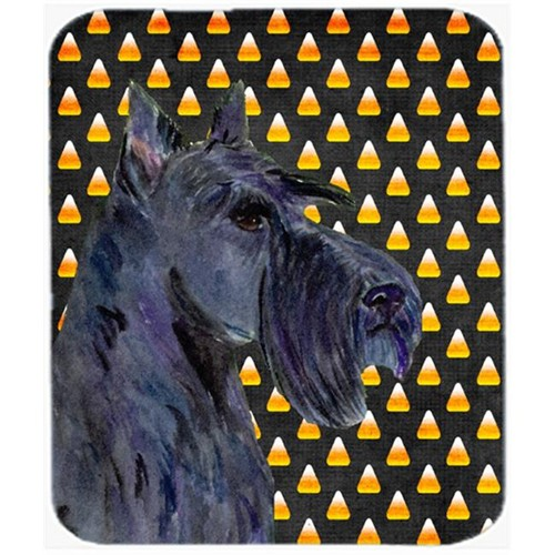 Carolines Treasures SS4322MP Scottish Terrier Candy Corn Halloween Portrait Mouse Pad Hot Pad or Trivet