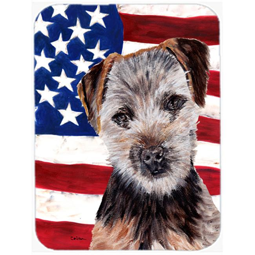 Carolines Treasures SC9639MP Norfolk Terrier Puppy With American Flag Usa Mouse Pad Hot Pad Or Trivet 7.75 x 9.25 In.