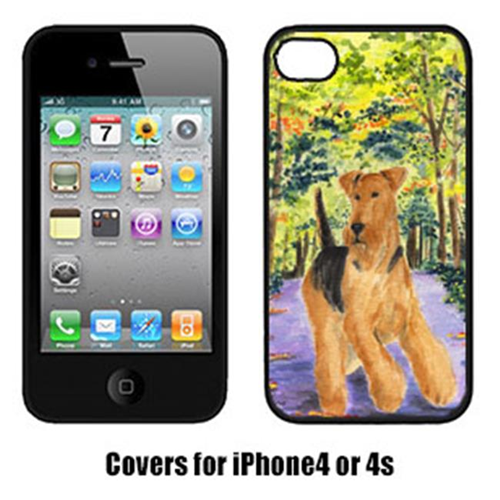 Carolines Treasures SS8208IP4 Airedale Cell Phone cover IPhone 4