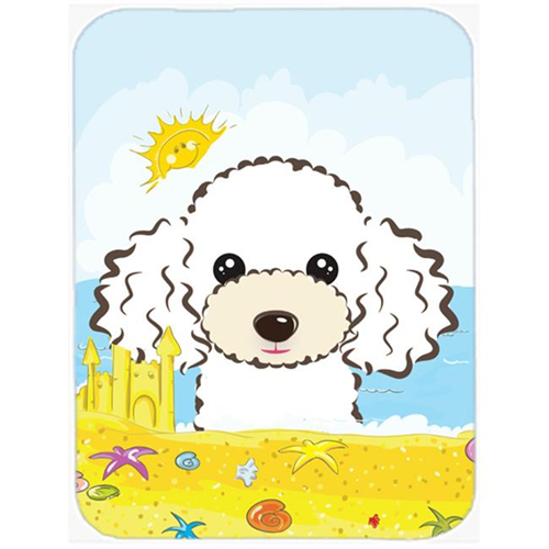 Carolines Treasures BB2125MP White Poodle Summer Beach Mouse Pad Hot Pad or Trivet